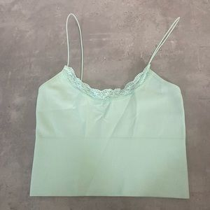 glassons green crop top with the size being xs/s